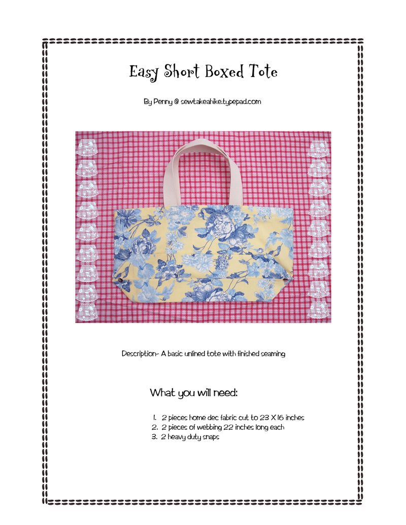 Easy short boxed tote tut1 copy