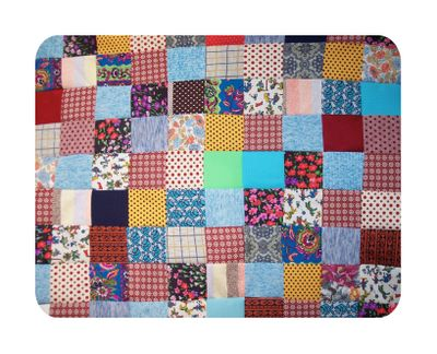 Vintage polyester baby quilt2