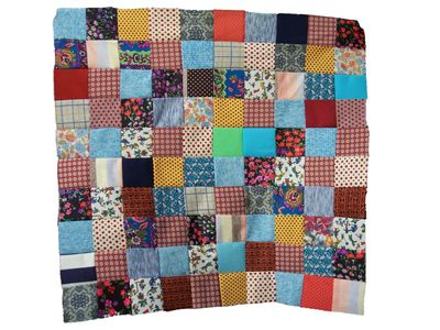 Vintage polyester baby quilt