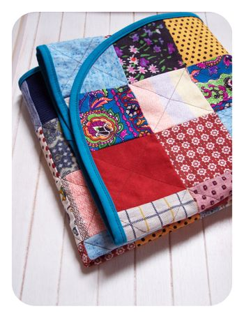 Poly pants baby quilt folded