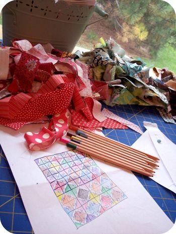 String quilt sketch