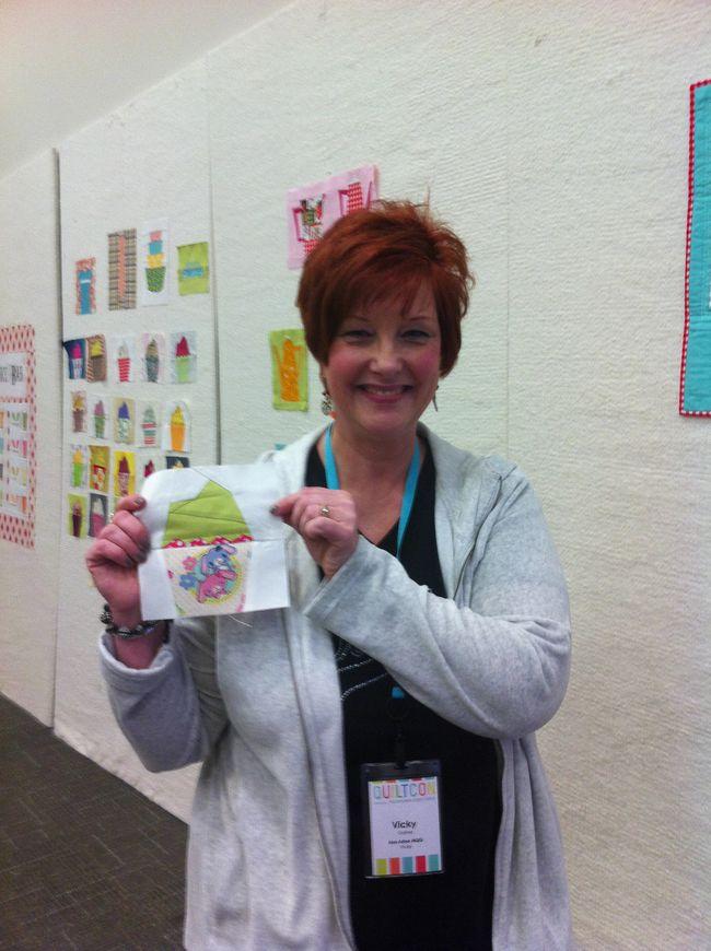Vicki and her cupcake