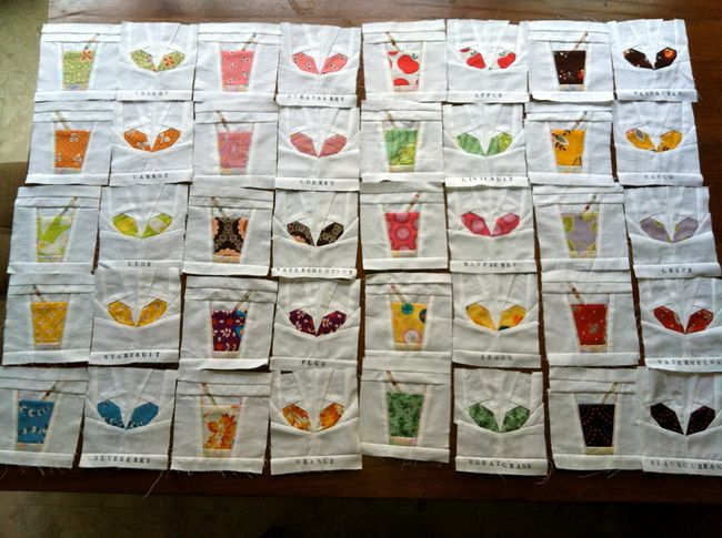 Julia's juice and sprouts quilt