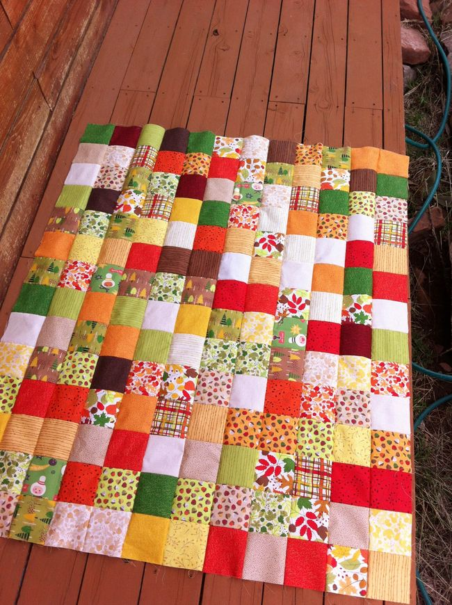 Bowling pin head donation quilt