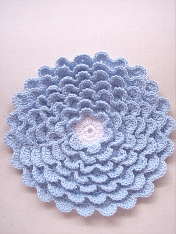 Crochet Flower Hot Pad | Crochet Hot Pad | Free Craft Project